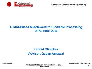 A Grid-Based Middleware for Scalable Processing of Remote Data