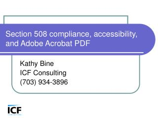 Section 508 compliance, accessibility, and Adobe Acrobat PDF