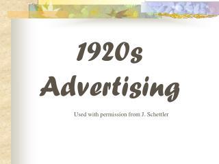 1920s Advertising