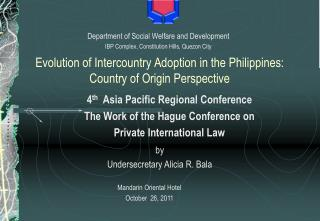 Evolution of Intercountry Adoption in the Philippines: Country of Origin Perspective