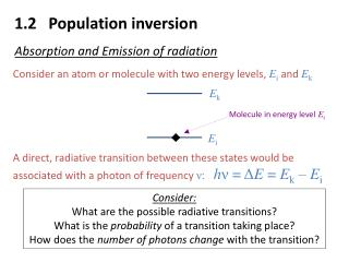 1.2   Population inversion