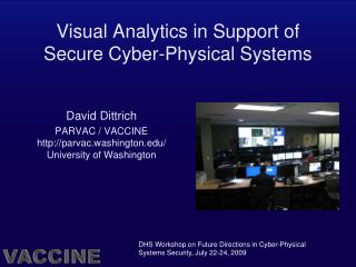 Visual Analytics in Support of Secure Cyber-Physical Systems