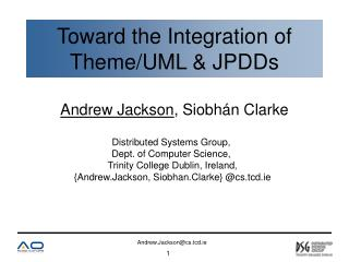 Toward the Integration of Theme/UML & JPDDs