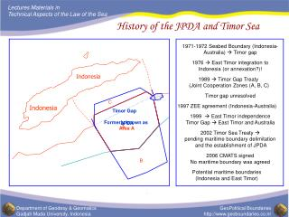 History of the JPDA and Timor Sea