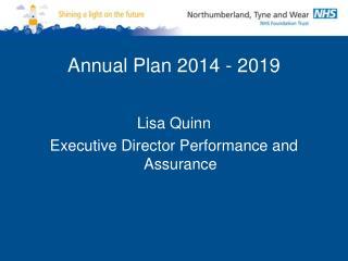 Annual Plan 2014 - 2019