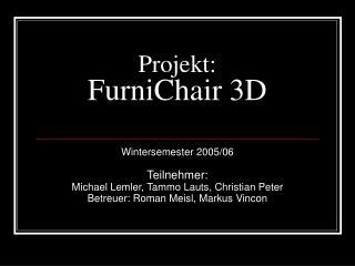 Projekt: FurniChair 3D