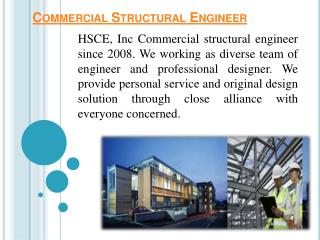 Structural engineering services by HCSE.