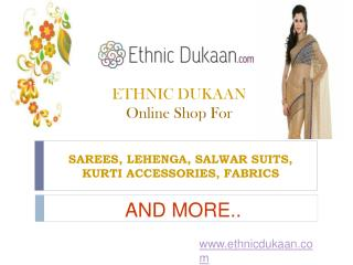 Sarees online - buy designer sarees online from ethnic dukaa