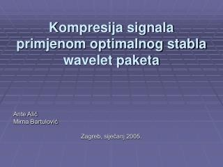 Kompresija signala primjenom optimalnog stabla wavelet paketa