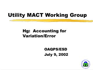 Utility MACT Working Group