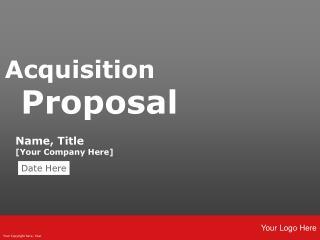 Acquisition  Proposal