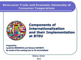 Components of Internationalization and their Implementation  at BTEU