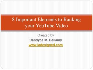 8 Important Elements to Ranking your YouTube Video