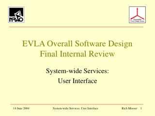 EVLA Overall Software Design Final Internal Review