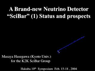 "A Brand-new Neutrino Detector ""SciBar"" (1) Status and prospects"