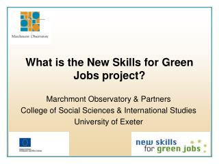 What is the New Skills for Green Jobs project?