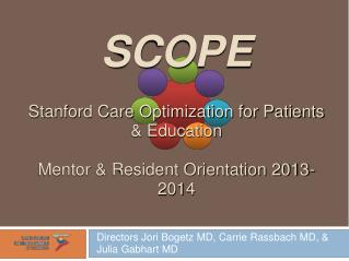SCOPE Stanford Care Optimization for Patients & Education Mentor & Resident Orientation 2013-2014