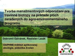 Dobromil Galvánek, Rastislav Lasák