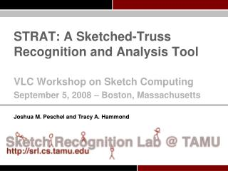 STRAT: A Sketched-Truss Recognition and Analysis Tool