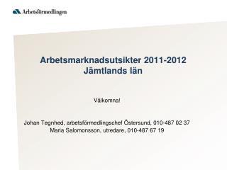 Arbetsmarknadsutsikter 2011-2012 Jämtlands län