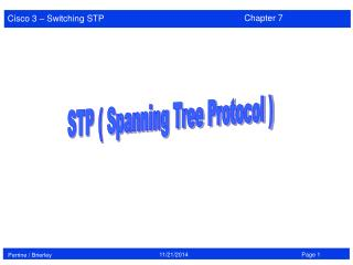 STP ( Spanning Tree Protocol )