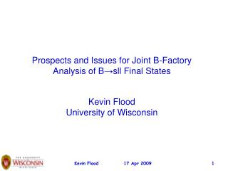Prospects and Issues for Joint B-Factory Analysis of B ? sll Final States