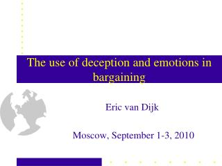 The use of deception and emotions in bargaining