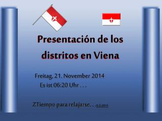 Presentación de los distritos en Viena
