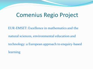 Comenius Regio Project
