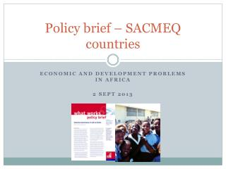 Policy brief – SACMEQ countries
