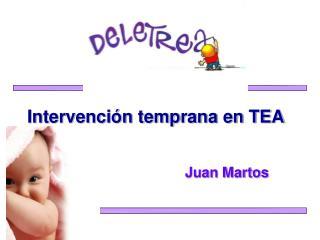 Intervención temprana en TEA