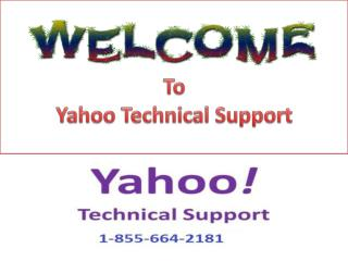 Yahoo Password Recovery Contact Number 1-855-664-2181