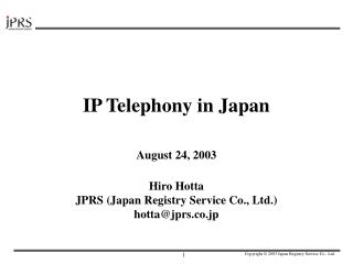 IP Telephony in Japan