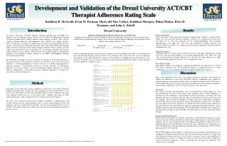 Development and Validation of the Drexel University ACT
