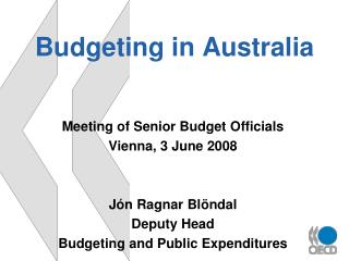 Budgeting in Australia