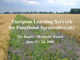 European Learning Network for Functional Agrobiodiversity