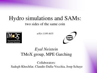 Hydro simulations and SAMs:  two sides of the same coin arXiv:1109.4635
