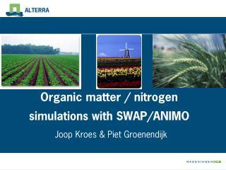 Organic matter / nitrogen simulations with SWAP/ANIMO