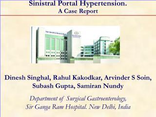 Sinistral Portal Hypertension. A Case Report