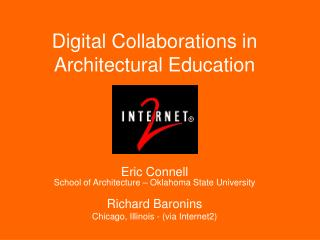 Digital Collaborations in Architectural Education