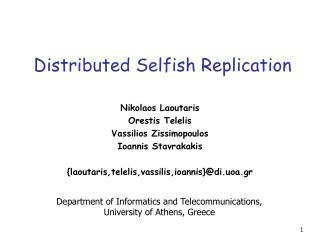 Distributed Selfish Replication
