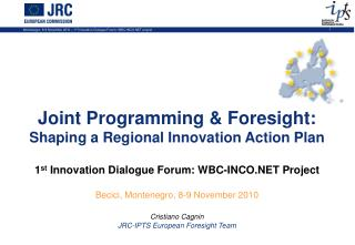 Joint Programming & Foresight:                     Shaping a Regional Innovation Action Plan