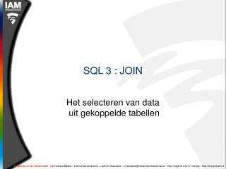 SQL 3 : JOIN