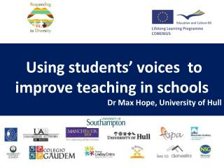 Using students' voices  to improve teaching in schools Dr Max Hope, University of Hull