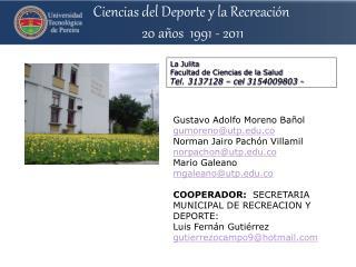 La Julita Facultad de Ciencias de la Salud Tel. 3137128 –  cel  3154009803  -