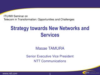 Strategy towards New Networks and Services