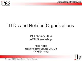 TLDs and Related Organizations