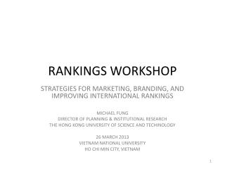 RANKINGS WORKSHOP