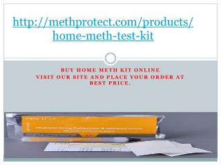 Home Meth Residue Test Kit |