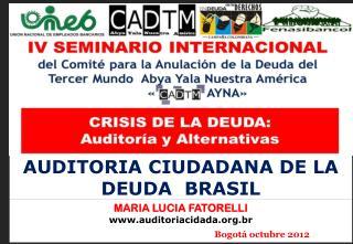 AUDITORIA CIUDADANA DE LA DEUDA  BRASIL